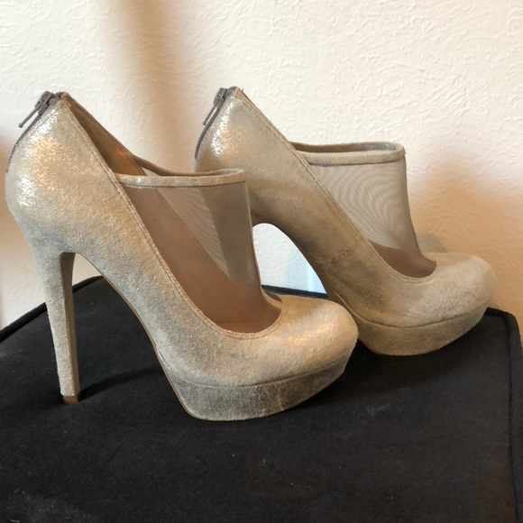 Jessica Simpson Shoes | Silver And Mesh